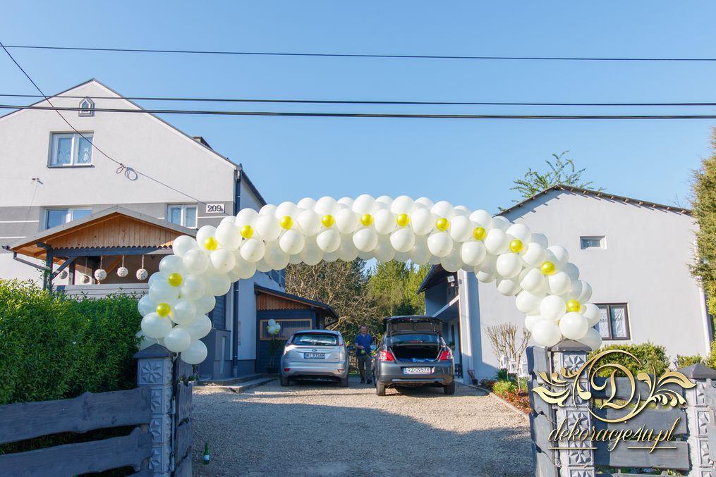 Wspaniały Brama balonowa – Dekoracja domu Pana Młodego – Wola Rafałowska XC41