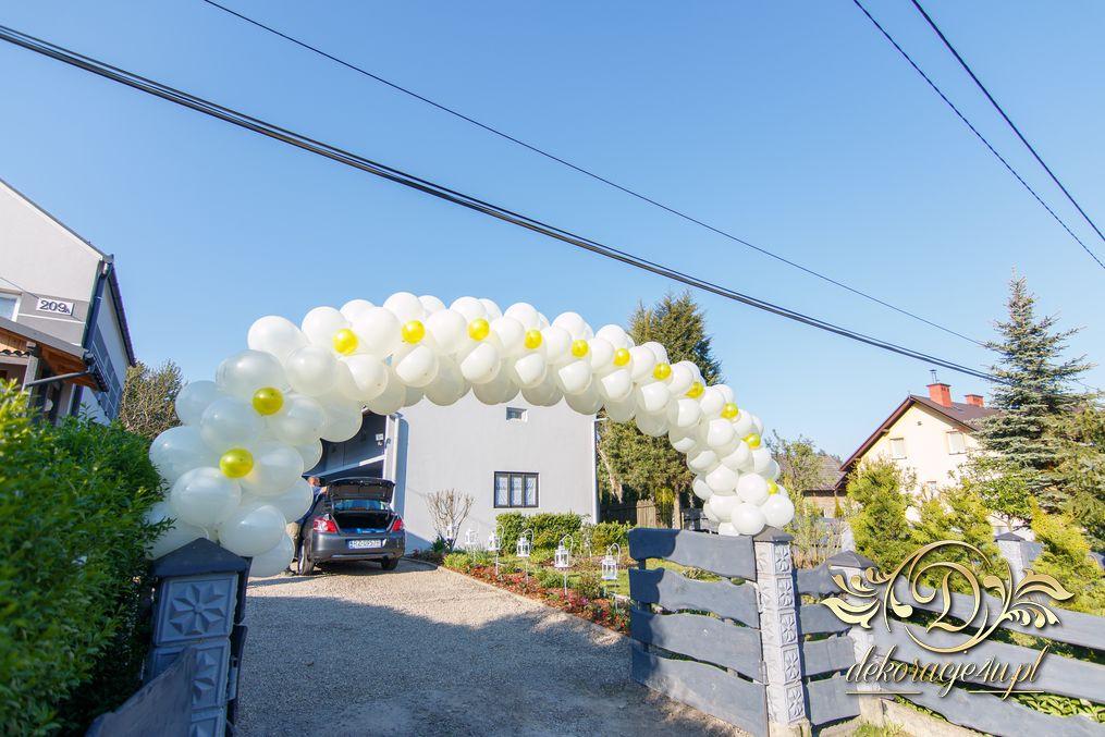 Nietypowy Okaz Brama balonowa – Dekoracja domu Pana Młodego – Wola Rafałowska RV41