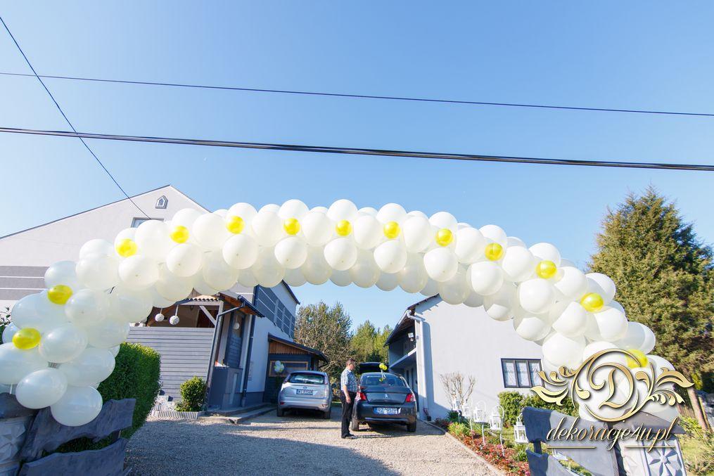 Brama Balonowa Dekoracja Domu Pana Młodego Wola Rafałowska