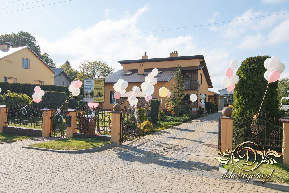 Balony Z Helem Dekoracja Domu Pani Młodej Sośnica