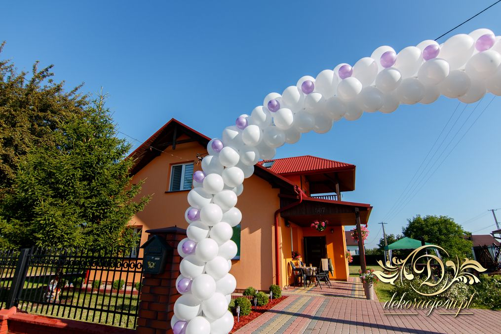 Poważne Brama balonowa – Dekoracja domu Pana Młodego – Werynia k LW76