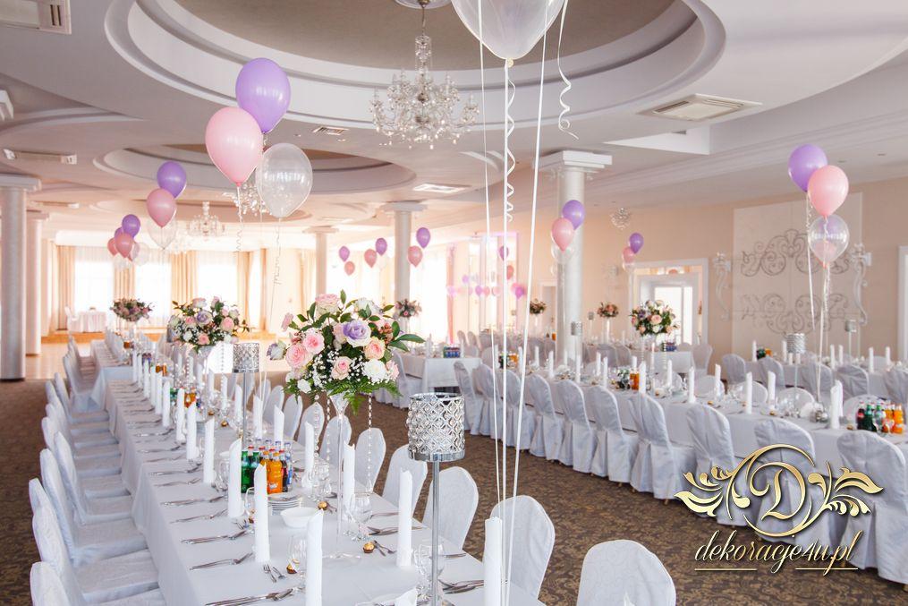 Zaawansowane Balony z helem – Dekoracja sali na wesele – Rzeszów, Alabaster EW88