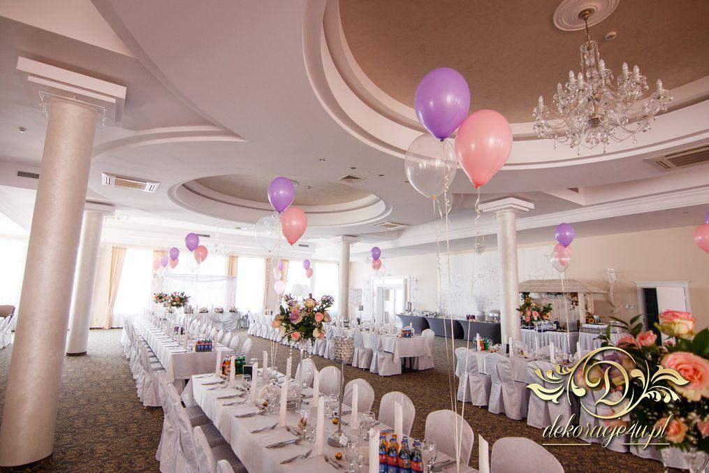 W Ultra Balony z helem – Dekoracja sali na wesele – Rzeszów, Alabaster KW68